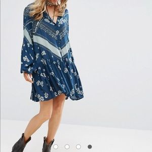 Free People From Your Heart A-Line Printed Dress